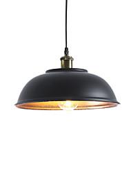 Недорогие -северная Европа винтажная промышленность металлическая тень подвесные светильники 1-фары столовая гостиная кухня диаметр 33см
