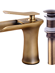 cheap -Faucet Set - Waterfall Antique Copper Centerset Single Handle One HoleBath Taps