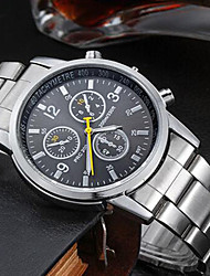 cheap -Men's Wrist Watch Quartz Stainless Steel Silver Water Resistant / Waterproof Analog Charm - Black Orange Blue