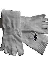 Недорогие -Футбольные носки Носки с пальцами Спортивные носки Муж. Однотонный Носки с пальцами Футбол Футбол Зима на открытом воздухе