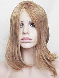 cheap -Synthetic Wig Straight Straight Bob With Bangs Wig Blonde Short Medium Length Strawberry Blonde / Light Blonde Synthetic Hair Women's Natural Hairline Blonde
