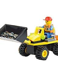 cheap -Building Blocks Model Building Kit Wheel Excavator Excavating Machinery Soft Plastic 1 pcs Kid's Boys' Girls' Toy Gift