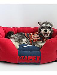 cheap -Dog Mattress Pad Bed Bed Blankets Pet Mats & Pads Cartoon Yellow Red Blue
