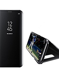 cheap -Case For Samsung Galaxy S8 Plus / S8 / S7 edge with Stand / Mirror / Auto Sleep / Wake Up Full Body Cases Solid Colored Hard PU Leather