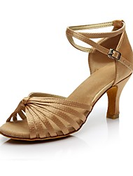 cheap -Women's Dance Shoes Synthetic Latin Shoes Heel Customized Heel Customizable Black / Nude / Indoor / EU41