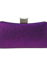 cheap -Women's Bags leatherette Evening Bag Buttons Crystals Sequin Wedding Party Event / Party Black Blue Purple Red