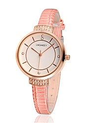 cheap -Women's Fashion Watch / Wrist Watch Leather Band Pink