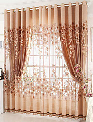 cheap -Glam Blackout Curtains Drapes Two Panels Living Room Embroidery