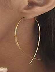 cheap -Women's Stud Earrings Hoop Earrings Ladies Personalized Simple Style Gold Plated Earrings Jewelry Gold / Silver For Street Club