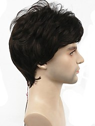 cheap -Synthetic Wig Straight Straight Wig Short Chestnut Brown Dark Brown Synthetic Hair Men's Black StrongBeauty