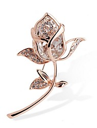 cheap -Women's Crystal Synthetic Diamond Brooches Ladies Rhinestone Brooch Jewelry Gold For Gift Ceremony