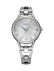 Недорогие -Жен. Повседневные часы Модные часы Наручные часы Кварцевый Аналоговый Черный / Серебристый Белый / Серебристый Розовое золото / Белый
