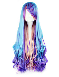 cheap -Cosplay Wigs Women's 32 inch Heat Resistant Fiber Blue Anime / Punk Lolita Dress