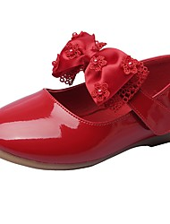 cheap -Girls' Comfort / Flower Girl Shoes / Children's Day Leatherette Flats Little Kids(4-7ys) Bowknot / Magic Tape White / Black / Red Spring / Fall / Wedding / Wedding / TPR (Thermoplastic Rubber)