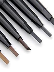 abordables -Crayons à Sourcils Taille-Crayon de Maquillage Imperméable Sans Alcool Non Testé sur des Animaux Maquillage Œil Sec Mat Matériel Longue Durée 6 couleurs Cosmétique Accessoires de Toilettage