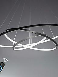 Недорогие -Lightinthebox 3-Light Круглый Подвесные лампы Рассеянное освещение Окрашенные отделки Металл Акрил LED 110-120Вольт / 220-240Вольт Белый / Диммируемый с дистанционным управлением / Wi-Fi Smart