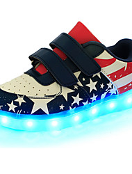 cheap -Boys' LED / Comfort / Novelty Leather Sneakers Little Kids(4-7ys) / Big Kids(7years +) Magic Tape / LED / Luminous Blue Spring / LED Shoes / Rubber / LED Shoes
