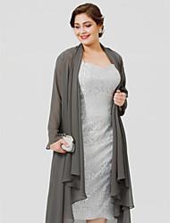 abordables -Manches Longues Mousseline de soie Mariage / Fête / Soirée Etoles de Femme Avec Manteaux / Vestes