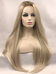 cheap -Synthetic Lace Front Wig Straight Straight Lace Front Wig Blonde Long Blonde Synthetic Hair Women's Blonde Uniwigs