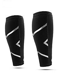 cheap -Leg Sleeves Calf Support for Hiking Basketball Outdoor Wearproof Lycra Spandex 1 Pair Training Sport Black White Red