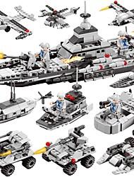 Недорогие -BEIQI Конструкторы Конструкторы Игрушки Обучающая игрушка 472 pcs Армия Военные корабли Летательный аппарат совместимый Legoing Новый дизайн Своими руками 6 в 1 Классика Изысканный и современный Катер