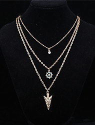 cheap -Women's Pendant Necklace Star Anchor Basic Fashion Alloy Gold Necklace Jewelry 1pc For Daily Casual