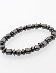 cheap -Men's Women's Bead Bracelet Magnetic Drop Cheap Natural Simple Style Fashion Natural Stone Bracelet Jewelry Black For Daily Casual Street