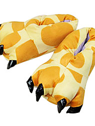 cheap -Adults' Kigurumi Pajamas Slippers Giraffe Animal Onesie Pajamas Polyester Cotton Yellow Cosplay For Men and Women Animal Sleepwear Cartoon Festival / Holiday Costumes / Shoes