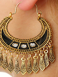 cheap -Women's Drop Earrings Hoop Earrings Long filigree Drop Ladies Vintage Fashion Silver Plated Earrings Jewelry Gold / Silver For Casual Going out