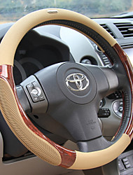 cheap -Steering Wheel Covers Rubber 38cm Black / Beige / Gray For universal