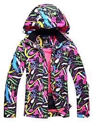 cheap -Women's Ski Jacket Ski / Snowboard Winter Sports Thermal / Warm Windproof Skiing Winter Jacket Ski Wear