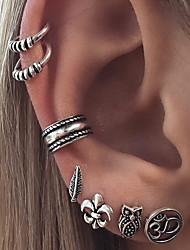 cheap -Women's Clip on Earring Mismatch Earrings cuff Owl Flower Star Vintage Bohemian Earrings Jewelry Silver For Birthday Gift Daily Casual Club