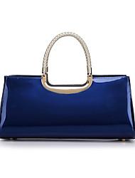 cheap -Women's Zipper Patent Leather Tote Blushing Pink / Dark Blue / Fuchsia / Fall & Winter