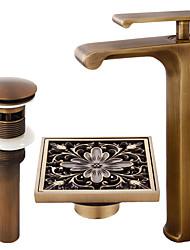 cheap -Faucet Set - Waterfall Antique Copper Centerset Single Handle One HoleBath Taps