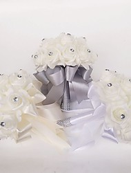 "cheap -Wedding Flowers Bouquets Wedding Polyester / Foam 9.84""(Approx.25cm)"