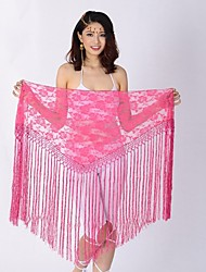 cheap -Belly Dance Hip Scarves Women's Performance Lace Lace / Tassel Hip Scarf