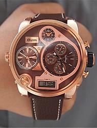 cheap -Men's Fashion Watch Dress Watch Wrist Watch Quartz Leather Analog - Digital White Black Brown