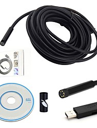 cheap -USB Endoscope Mini Camera 7MM Dia 15M Length CMOS Waterproof Borescope Inspection Camera 6 LED Snake Visual Video Cam