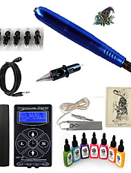 cheap -Tattoo Machine Starter Kit - 1 pcs Tattoo Machines with 7 x 15 ml tattoo inks, Professional LED power supply 1 rotary machine liner & shader