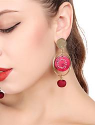 cheap -Women's Drop Earrings Hoop Earrings Sweet Earrings Jewelry Black / Red / Green For Daily School