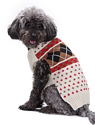 cheap -Dog Coat Sweater Jacket Winter Dog Clothes Beige Costume Large Dog Acrylic Fibers Down British Casual / Daily XXS XS S M L XL