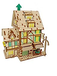 cheap -3D Puzzle Jigsaw Puzzle Model Building Kit Houses House Animal Kids Parrot DIY Wooden 1 pcs Classic Modern Contemporary Fashion Kid's Adults' Boys' Girls' Toy Gift