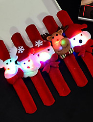 cheap -5Pcs/Set Christmas Toys Luminous Wristbands Party Decoration Supplies Novelty Flashing Clap Circle Bracelet