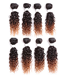 cheap -Brazilian Hair Curly Classic Human Hair Ombre Hair Weaves / Hair Bulk Human Hair Weaves Human Hair Extensions