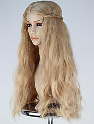 cheap -Synthetic Wig Cosplay Wig Wavy Wig Blonde Long Flaxen Synthetic Hair Women's Blonde