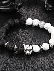 cheap -Women's Onyx Bead Bracelet Bracelet yin yang Natural Stone Bracelet Jewelry Black For Party Gift