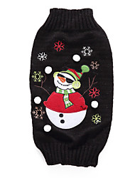 cheap -Dog Sweater Christmas Christmas Winter Dog Clothes Black Costume Acrylic Fibers XS S M L XL