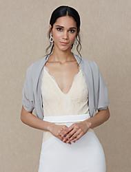 cheap -Shrugs Chiffon Wedding / Party / Evening Women's Wrap With Draping