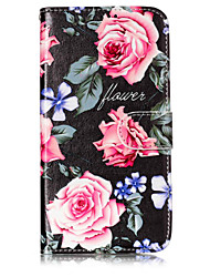 cheap -Case For Motorola Moto G5 Plus / Moto G5 / Moto C plus Wallet / Card Holder / with Stand Full Body Cases Flower Hard PU Leather