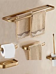 Недорогие -набор аксессуаров для ванной комнаты из античного металла 5 шт. - настенные держатели для туалетной бумаги / барная стойка